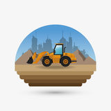 Under construction design. truck concept. repair icon. Under construction concept with icon design, vector illustration 10 eps graphic Royalty Free Stock Images