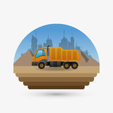 Under construction design. truck concept. repair icon. Under construction concept with icon design, vector illustration 10 eps graphic Royalty Free Stock Photo