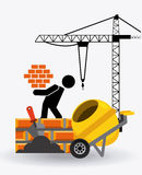 Under construction stock illustration