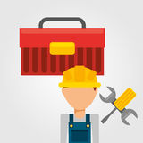 Under construction. Design, vector illustration eps10 graphic Stock Images