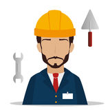 Under construction. Design, vector illustration eps10 graphic Royalty Free Stock Photo