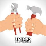 Under construction design Stock Image