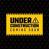 Under construction design, website development concept, illustration Stock Image
