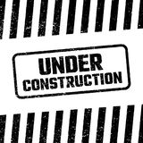 Under construction design, website development concept, illustration Royalty Free Stock Photography