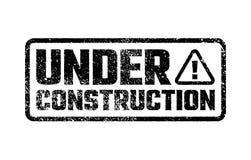 Under construction design, website development design, illustration. Under construction stamp, website development design, vector illustration Royalty Free Stock Images