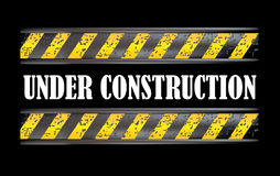 Under construction dirty sign Royalty Free Stock Image