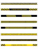 Under Construction Dividers Royalty Free Stock Photos