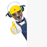 Under construction dog Royalty Free Stock Images