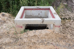 Under Construction drain. Royalty Free Stock Image