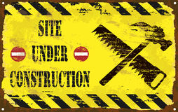 Under Construction Enamel Sign Stock Photo