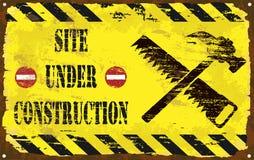 Under Construction Enamel Sign Stock Photo