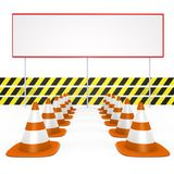 Under construction, enter your message - a 3d image Stock Photography