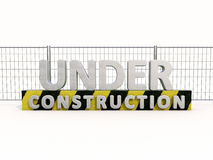 Under construction and fence Royalty Free Stock Image