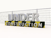Under construction and fence Stock Photo