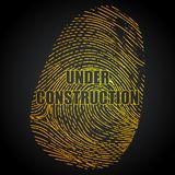 Under Construction Finger Print. Illustration of under construction impression of finger print on abstract background Stock Photography