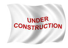 Under construction flag Stock Photography