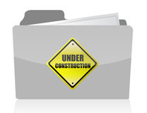 Under construction folder Royalty Free Stock Photography