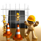 Under construction funny 3d icon. Illustration Royalty Free Stock Photos
