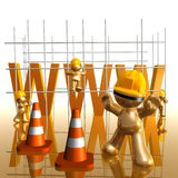 Under construction funny 3d icon Stock Image