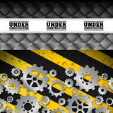 Under construction and gears design Royalty Free Stock Photo