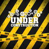 Under construction and gears design Royalty Free Stock Image