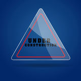Under Construction Glass icon  Royalty Free Stock Images
