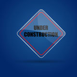 Under Construction Glass icon  Stock Photography