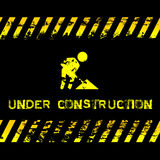 Under construction - grunge illustration with icon suitable for websites Stock Photography
