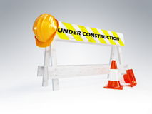 Under construction helmet. On a white background Royalty Free Stock Photos