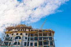 Under construction high-rise building Royalty Free Stock Photo