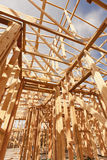 Under Construction Home Framing Abstract Stock Images