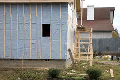 The under construction house Stock Photography