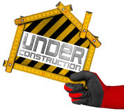 Under Construction - House Project Concept Stock Photography