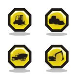 Under construction icon collection. Under construction isolated icon collection Stock Photo