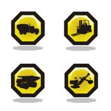 Under construction icon collection Stock Photography