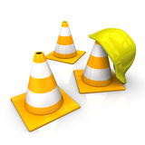 Under Construction Icon Helmet Stock Image