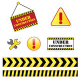 Under construction icon set Royalty Free Stock Photos