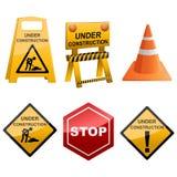 Under Construction Icon Set Stock Photos