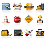 Under construction icons Royalty Free Stock Photos