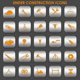 Under Construction Icons Royalty Free Stock Photography