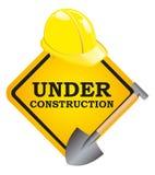 Under Construction. An Illustration of under construction sign stock illustration