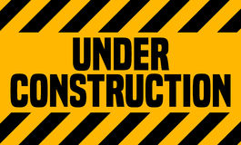Under Construction Industrial Sign. Stock Photos