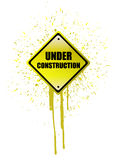 Under construction ink sign Royalty Free Stock Photo