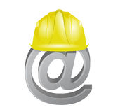 Under construction internet online sign Stock Photos