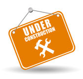 Under construction label Royalty Free Stock Photography