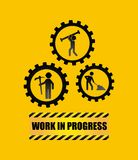 Under construction label  isolated icon design Stock Photography