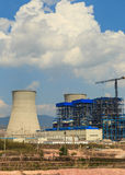 Under construction of Lignite power plant Royalty Free Stock Images