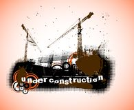 Under construction logo Royalty Free Stock Photography