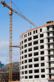 Under construction many-storied building Stock Image