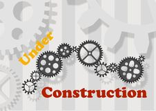 Under construction - cdr format Stock Photography